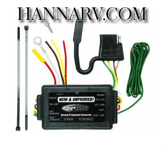 tow ready 119176 modulite trailer wiring short circuit protector 2 rh hannarv com trailer wiring converter 7 pin to 4 trailer wiring converter box