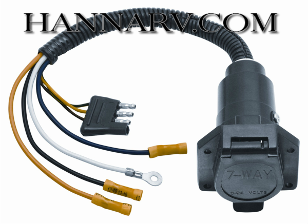 Pollak 12-742EV 7-Way Round Pin to 4-Way Flat Connector Adapter RV on 7 way trailer plug ford, seven wire trailer wiring diagram, 7-way trailer light diagram, 4 way trailer wiring diagram, ford trailer brake controller wiring diagram, phillips 7-way wiring diagram, 7 pronge trailer connector diagram, 7-way connector wiring diagram, 7-wire rv plug diagram, seven way trailer wiring diagram, 7 way trailer hitch wiring diagram, 7 way trailer plug installation, trailer light plug diagram, 7-way blade wiring diagram, seven way trailer plug diagram, horse trailer wiring diagram, 7 way trailer plug cover, 7 way trailer plug dimensions, chevy 7-way trailer wiring diagram,