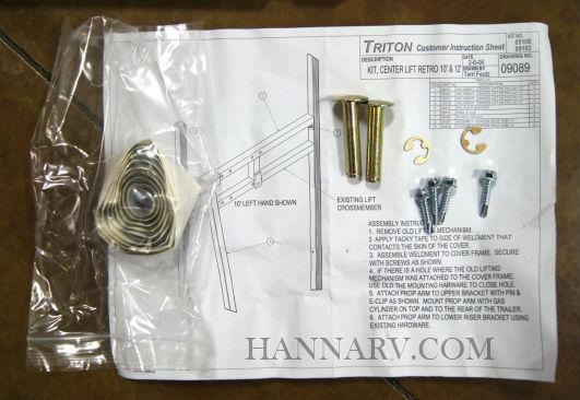TRITON TRAILER CLAM SHELL COVER PULL STRAP 10810