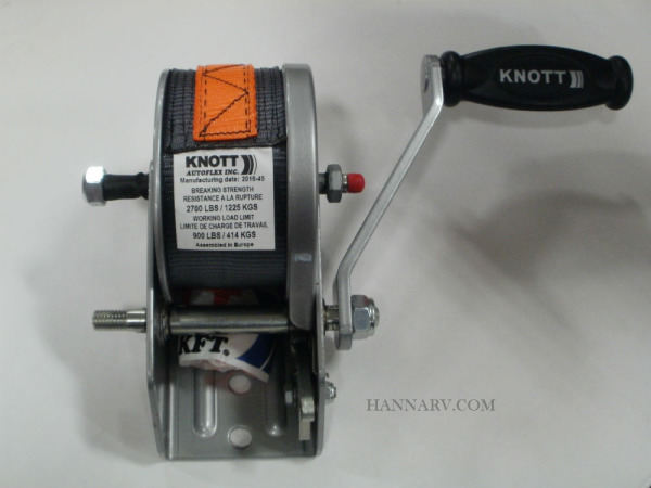 Triton 18344 PWC Trailer Winch With Strap And Handle 600 lb.