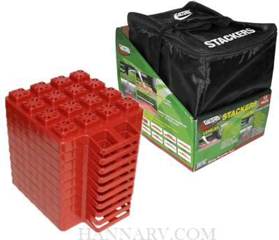 Valterra A10-0920 Stackers Leveler And Jack Pads 10 Pack With Storage Bag
