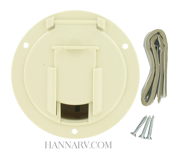 Valterra A10-2138VP Medium Round Colonial White Cable Hatch