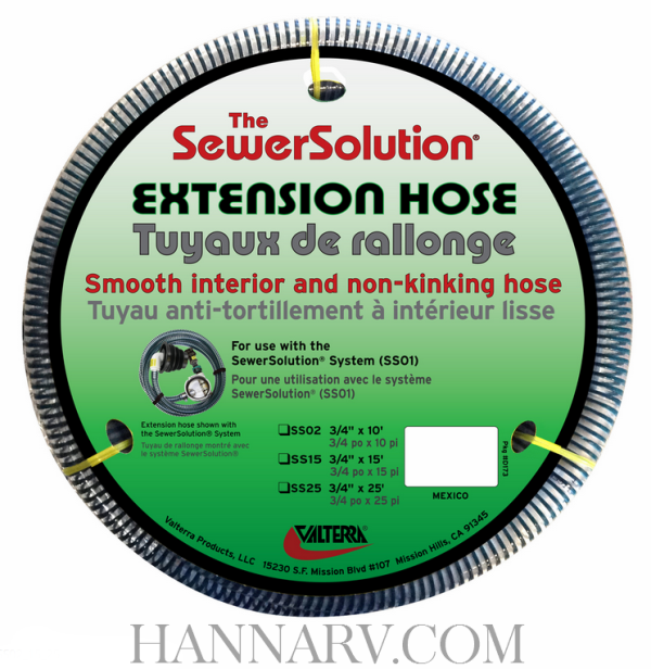 Valterra SS02 The Sewer Solution 10 Foot Extension Hose