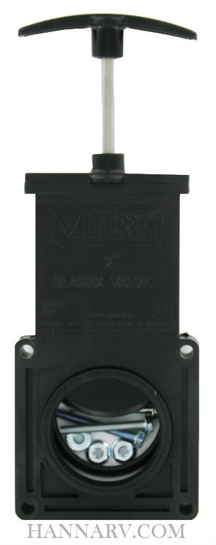 Valterra T-1002VP Bladex 2 Inch Waste Valve with Plastic Handle