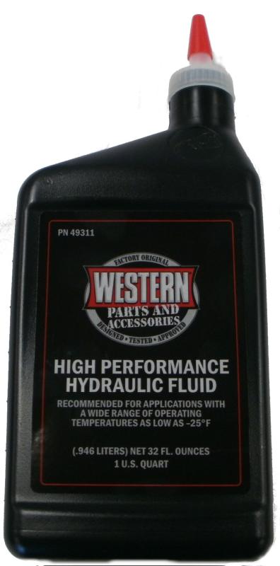 Western 49311 High Performance Snowplow Hydraulic Fluid - Quart
