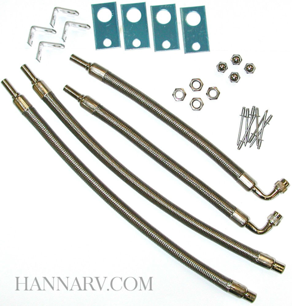 Wheel Masters 8001 Stainless Steel 4 Hose Kit for 16 Inch - 19.5 Inch Wheels