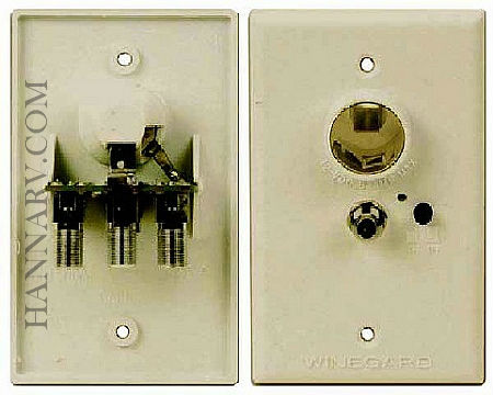 Winegard RV-7012 Wall Plate Power Supply - Ivory