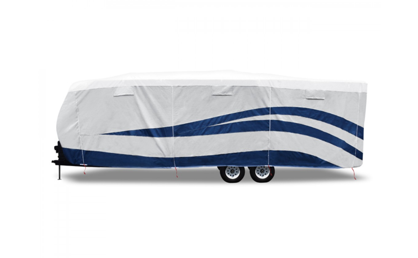 ADCO 94843 Designer Series UV Hydro Travel Trailer RV Cover - Fits 24 Foot 1 Inch to 26 Foot Trailers