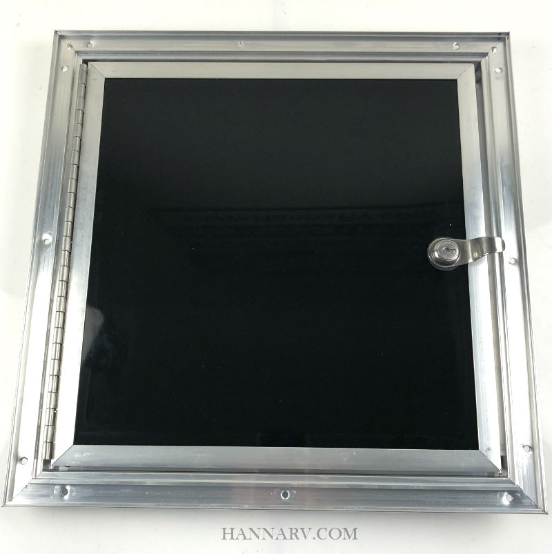Black Fuel Door for ATV and Snowmobile Trailers - 14-Inches x 14-Inches