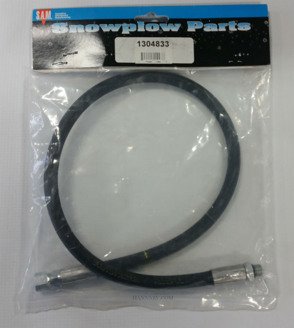 buyers 1304833 curtis snowplow hydraulic left angle hose 28 inch - replaces  curtis oem 1tbp98d