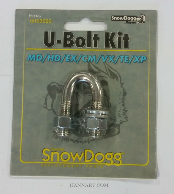 Buyers 16103020 SnowDogg Snowplow MD/HD/EX/CM/VX/TE/XP U-Bolt Kit