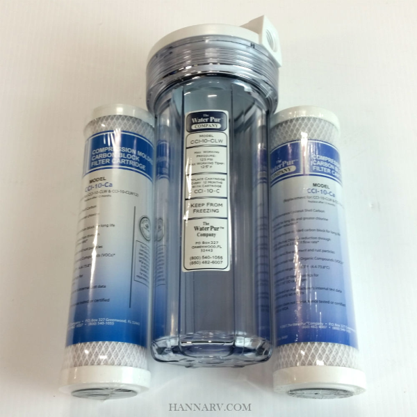 The Water Pur Company CCI-10-CLW 10-inch Water Filter Canister and CCI-10-Ca 10-inch Water Filter Co