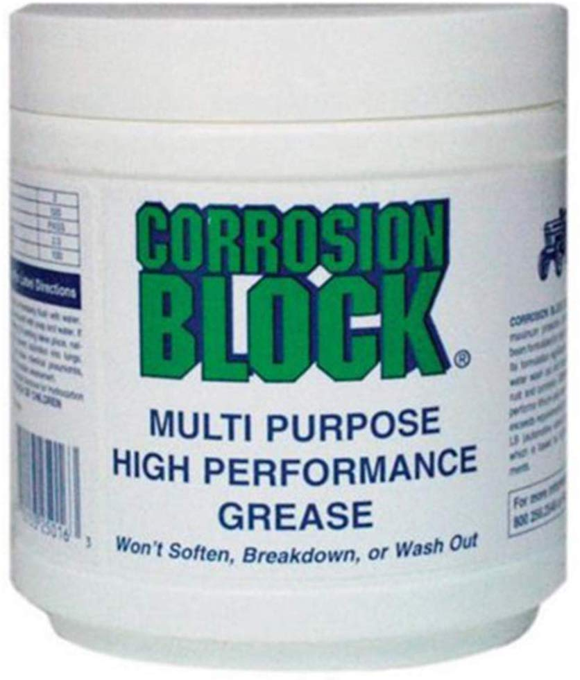Corrosion Block CB16 Heavy Duty Water Resistant Grease Lubricant - 16 oz. Jar