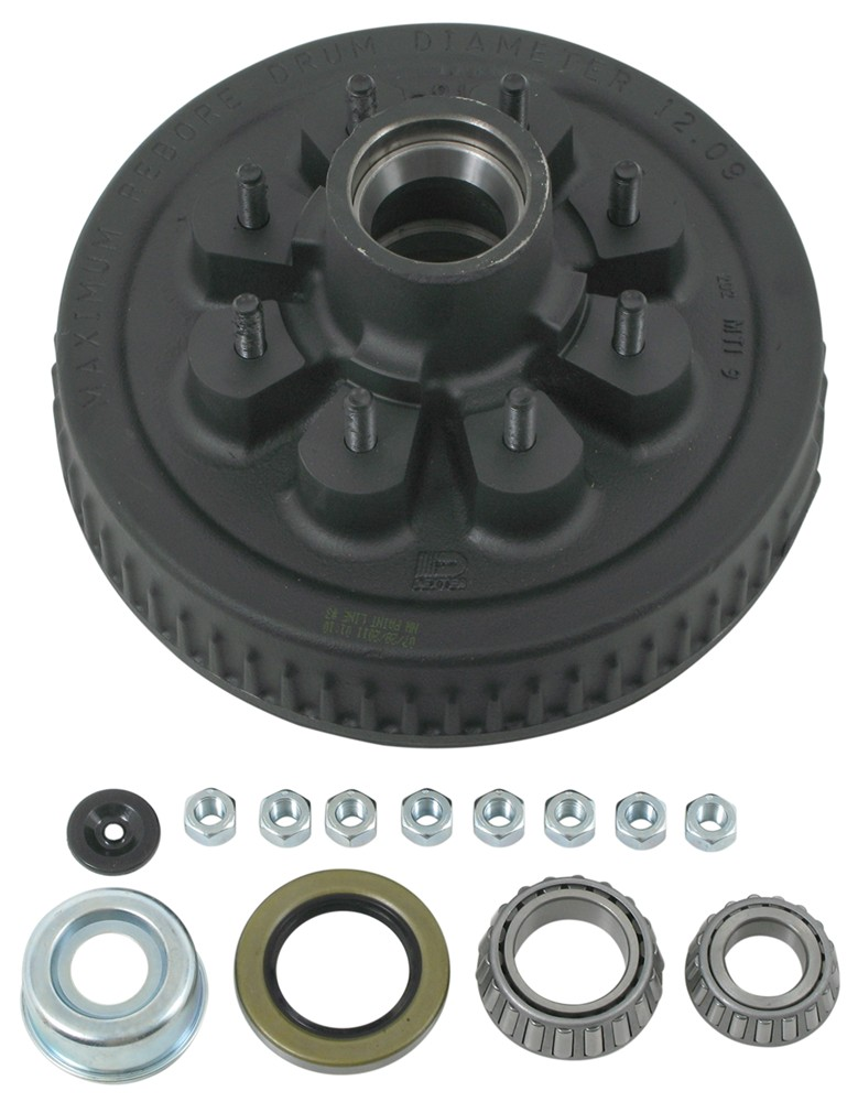 Dexter 8-219-4UC3-EZ E-Z Lube Hub and Drum Assembly for 5,200 lb to 7,000 lb Axles - 8 on 6-1/2