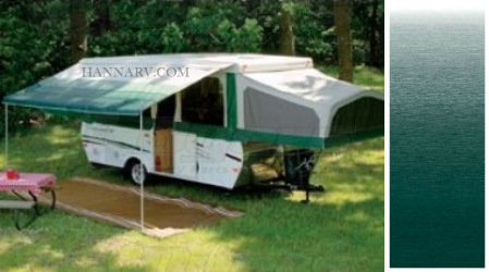 Dometic 944NW12.002 Trim Line Case Awning - Meadow Green - 12 Foot Length