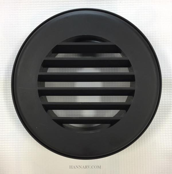 Round Rv Furnace Wall Register Vent Black Single