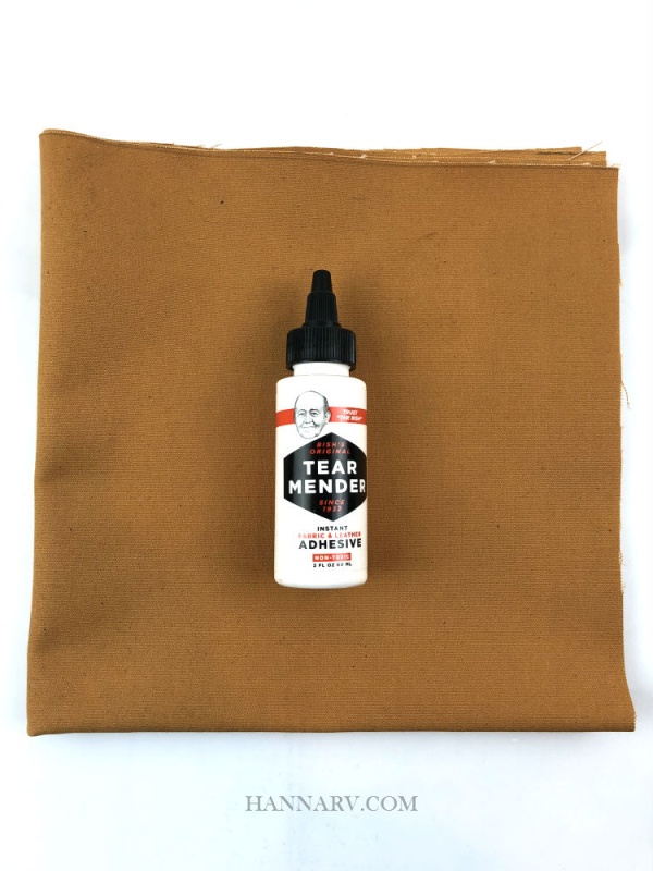 Pop Up Camper Cotton Canvas Repair Kit - Cinnamon Brown
