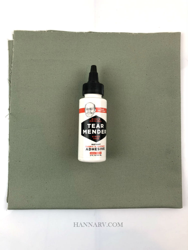 Pop Up Camper Cotton Canvas Repair Kit - Green/Gray