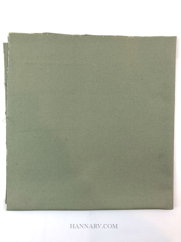 Pop Up Camper Cotton Canvas Fabric - 18-inch x 18-inch - Green/Gray