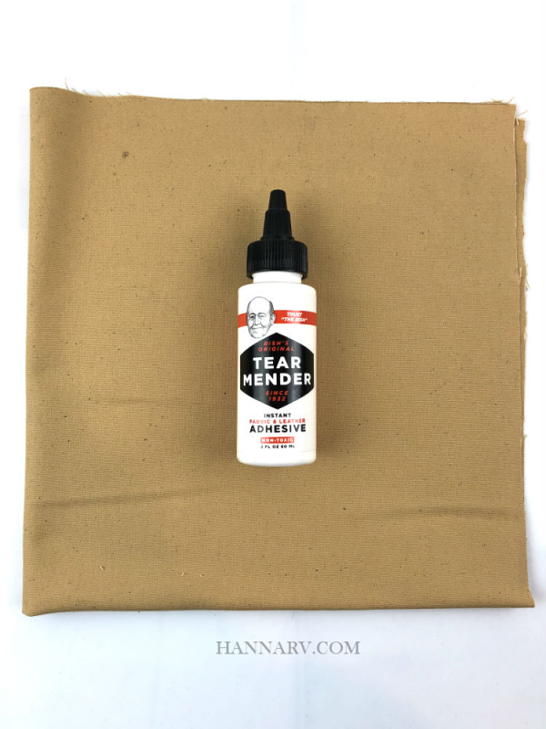 Pop Up Camper Cotton Canvas Repair Kit - Light Brown