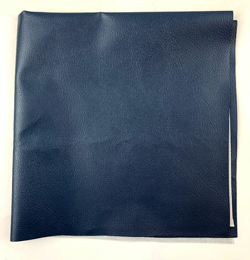 Pop Up Camper Reinforced Vinyl Fabric - 16 Inch x 18 Inch - Navy Blue