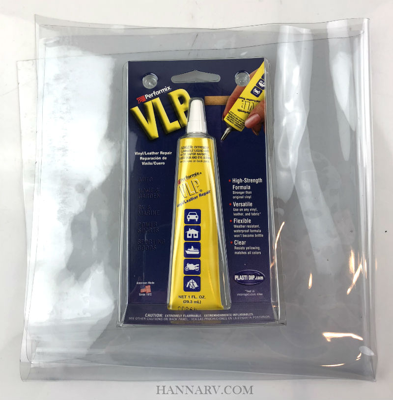 Pop Up Camper Vinyl Window Material Repair Kit - Clear