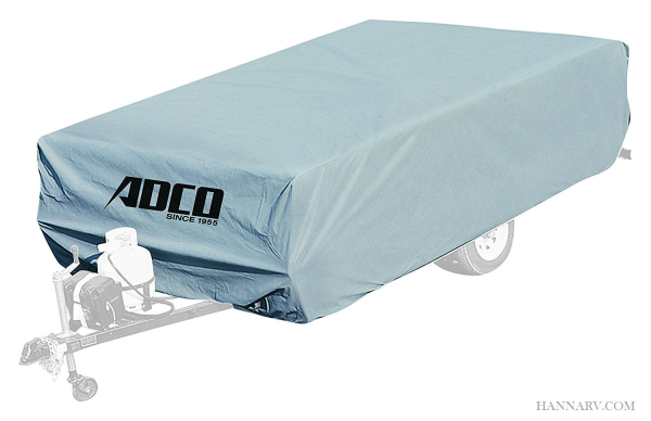 ADCO 2890 Polypropylene Pop-up Tent Camper Trailer RV Cover For Length Up To 8-feet