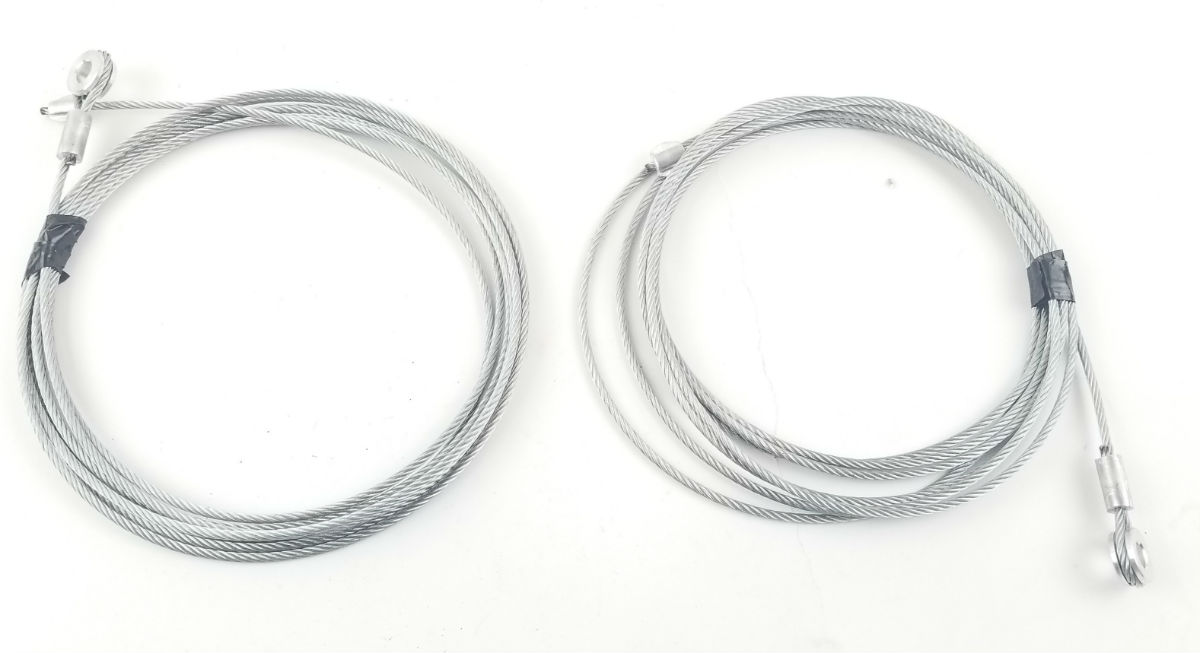 149 Inch Replacement Rear Ramp Door Cable for Enclosed Trailers - Pair