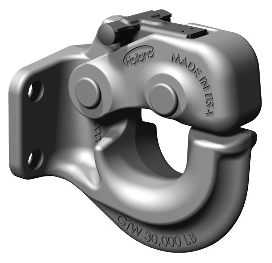 SAF Holland PH30RP41 Rigid Type Pintle Hook with Fast Latch - 30,000 Lbs