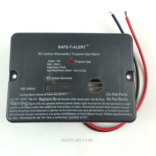 Car Trailers For Sale: Safe-T-Alert 25-742 Flush Mount Dual LP And Carbon