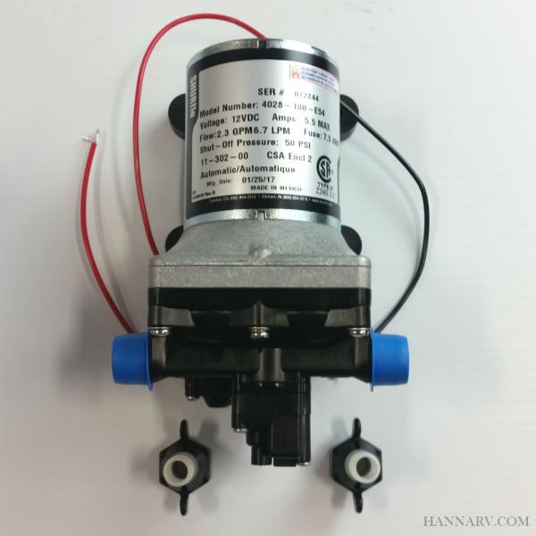 Shurflo Water Pump >> Shurflo Revolution 4008 Series Fresh Water Pump 4028 100 E54 2 3 Gpm 12v