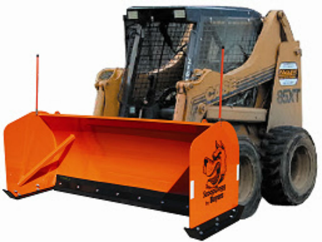 ScoopDogg Model 2603110 Skid-Steer Snow Pusher - 10 Foot Wide Pusher For 7,000+ lb. Skid-Steer Machines