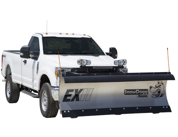 SnowDogg EX75 II Stainless Steel Snow Plow - SnowDogg EX Series Plow For 3/4 Ton & Super Duty Trucks
