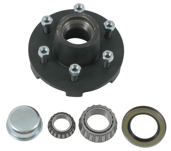 Dexter 8-213-5UC1 Complete Painted Hub Assembly - 6 on 5.5 - 25580/LM67048 - For 6000 Lbs Axles - 2.