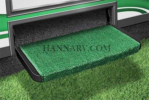 Prest-O-Fit 2-0070 Wraparound Plus RV Step Rug - Green