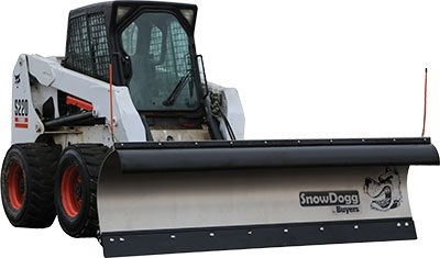 SnowDogg SKTE90 Stainless Steel Snow Plow With Trip Edge Design - Snowdogg SK Series Plow For Larger
