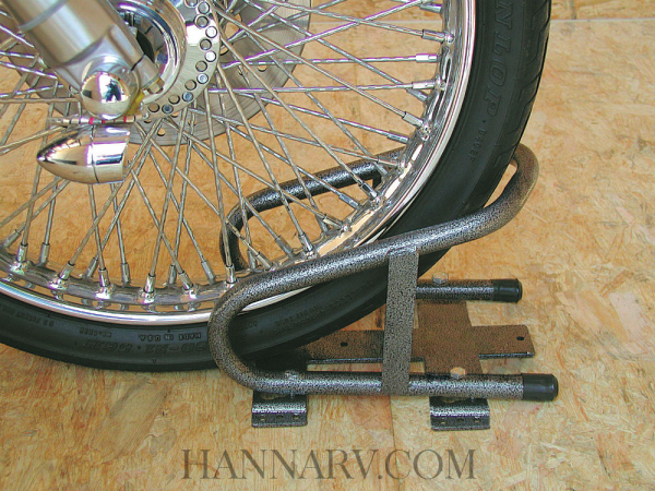 Rack Em RA-17 Steel Motorcycle Wheel Chock with Removable Base