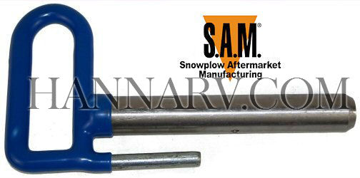 Buyers 1302047 Snowplow Connecting Pin Assembly (Blue Handle) - Replaces Meyer Diamond OEM 11859