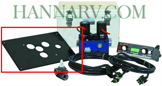 Buyers 3016035 SAM Hydraulic Spreader HV715EP / HV1030EP Mounting Bracket - Black