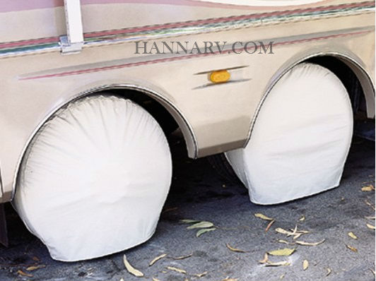 Truck Fits most tires on a 22.5 Rim Bus Coach PAIR Storage Vinyl Tire Covers 40-42 Diameter Tires BLACK for RV