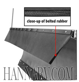 Buyers 1309144 Belted Rubber V-Plow Snow Deflector - 144 Inches x 3/8 Inch Thick