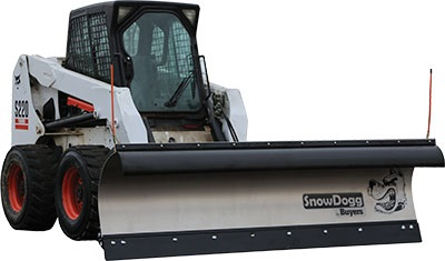 SnowDogg SKTE75 Stainless Steel Snow Plow With Trip Edge Design - Snowdogg SK Series Plow For Smalle