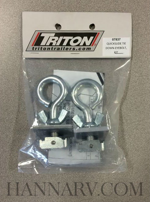 Triton 07837 Eyebolt Quick Slide Tie Down Kit