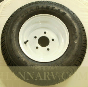 Load Star 20.5 X 8-10 C Class Tire And 5 Hole Wheel Assembly - Single - White Painted Finish