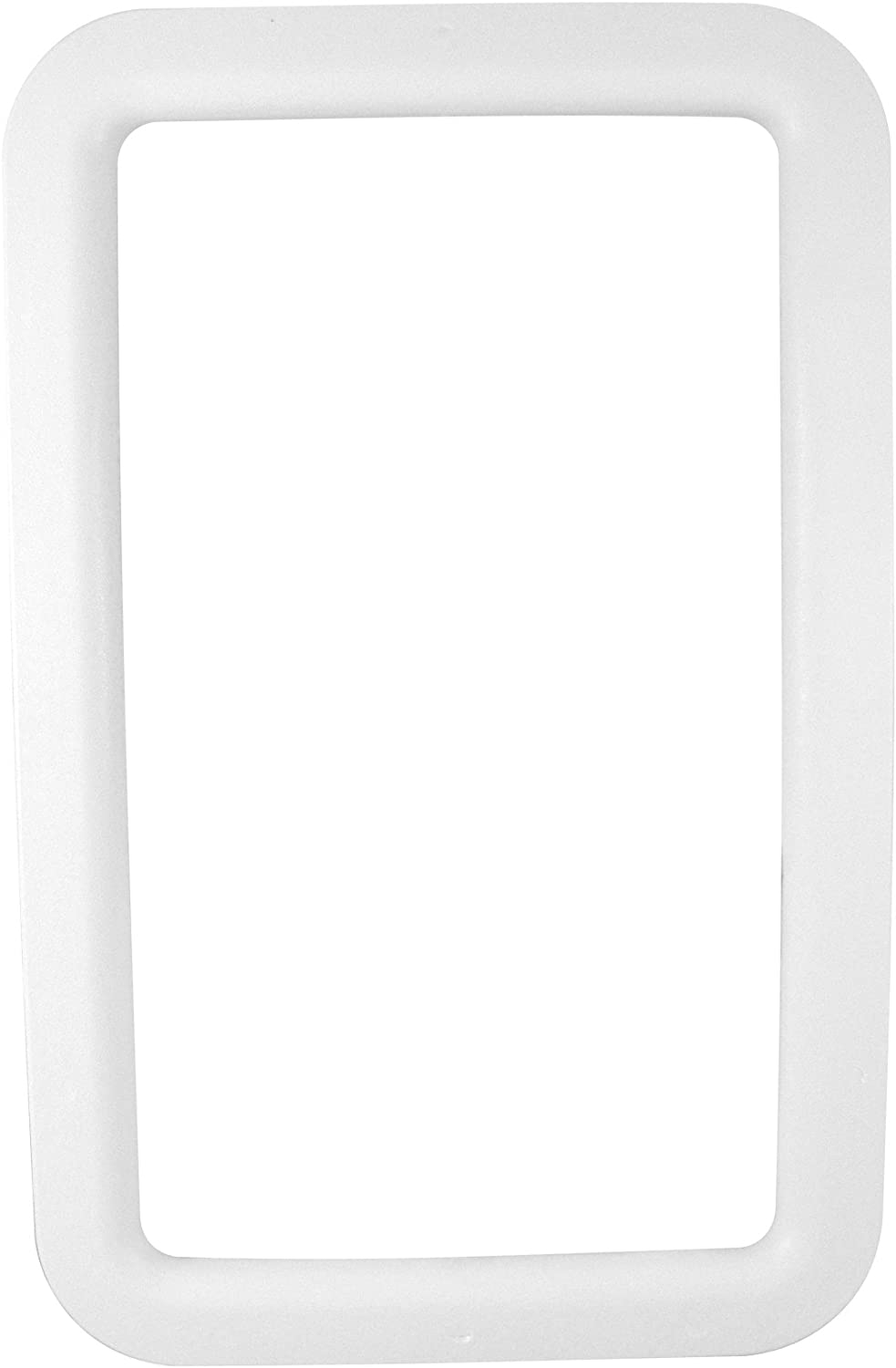 Valterra A77006 Exterior RV Entrance Door Window Frame - Nu Tru White