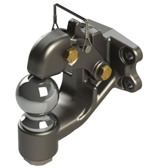 Wallace Forge DPH2000 Combination Pintle Hitch with 2 Inch Ball - 16,000 Lbs Capacity