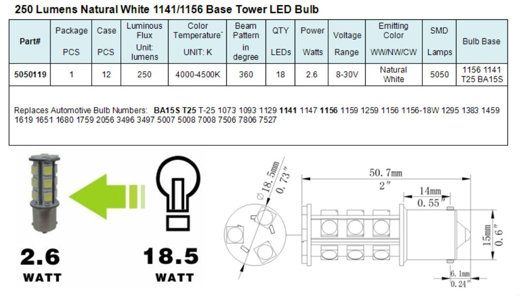12 Volt Light Bulb Chart Pictures To Pin On Pinterest