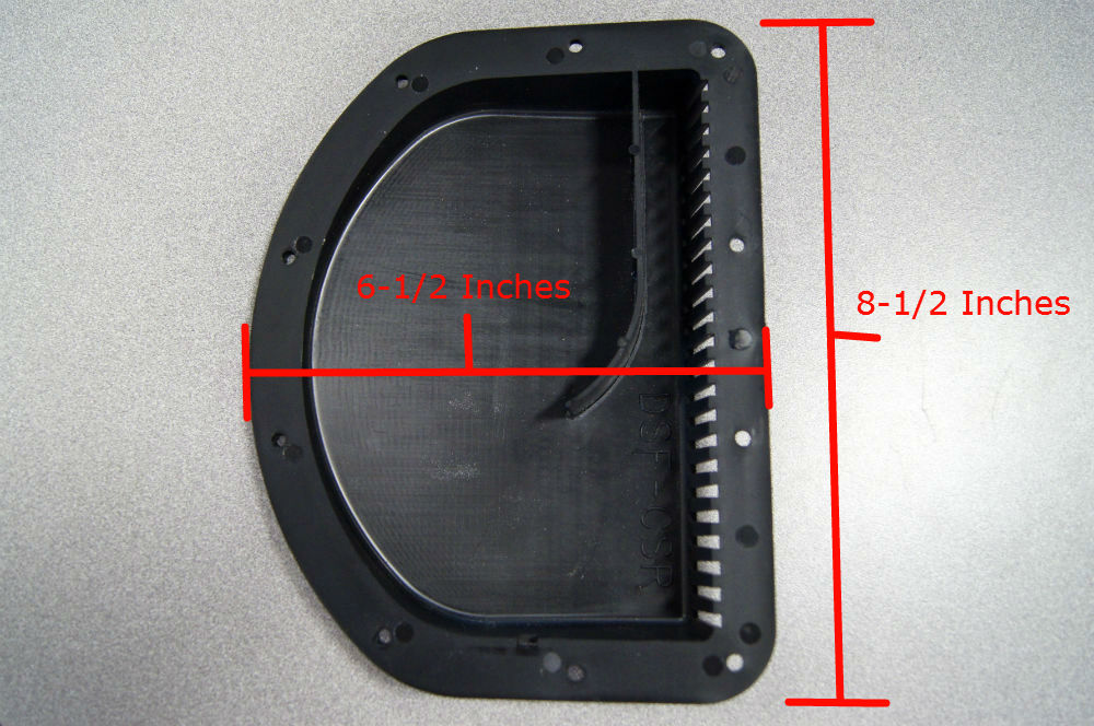 Forest River 20x27360a Black Plastic Trailer Sidewall Vent