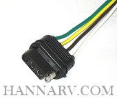 Trailer Wiring Harness 4 Way Flat 18 Guage Wire 48 Inches Vehicle End 44S_THL trailer wiring harness 5 way 18 16 gauge wire 12 inches trailer Plug in Trailer Wiring Kits at readyjetset.co