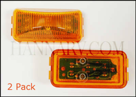 Triton 10628 Amber 25 Inch Rectangle LED Clearance Sidemarker Light 2 Pack _THL triton trailer lights and wiring hanna trailer supply oak creek triton 08427 snowmobile trailer wire harness at bakdesigns.co
